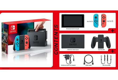 Nintendo Switch Console Neon Red/Neon Blue (Stav A)